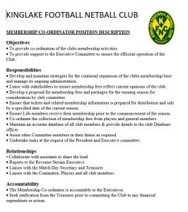 Membership coordinator